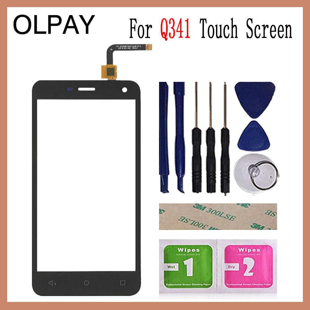 Image 2 - OLPAY 5.0'' Phone Front Glass For Micromax Q341 Q 341 Touch Screen Touch Digitizer Panel Glass Tools Free Adhesive+Wipes-in Mobile Phone Touch Panel from Cellphones & Telecommunications