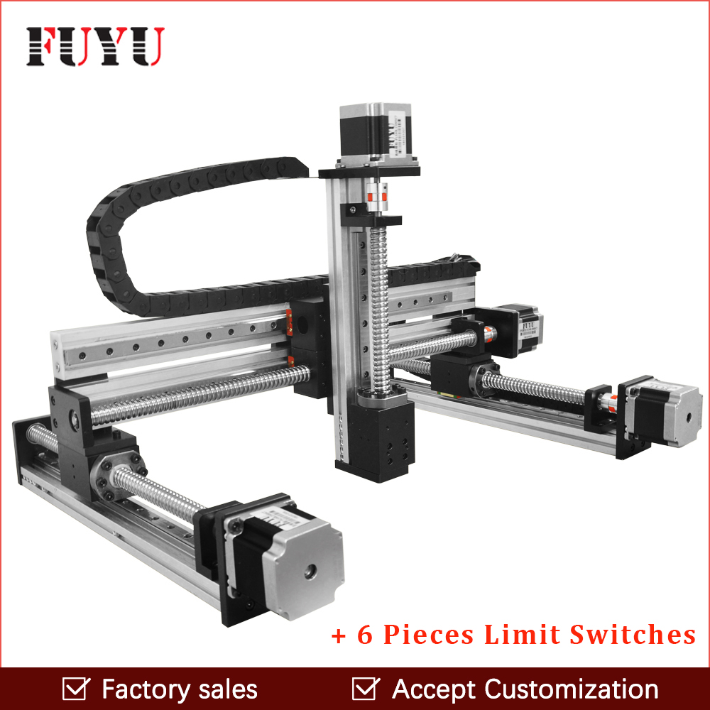 Free shipping ball screw linear guide rail slide motion actuator XYZ stage table robotic arm Z axis 250mm with nema 23 motor
