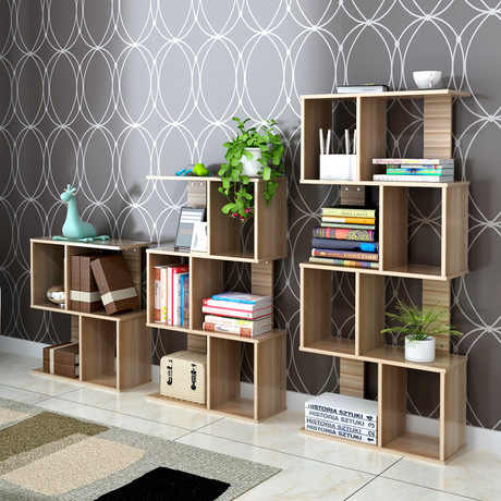 Bookcase Living Room Furniture Home Furniture S shape bookshelf book stand wood shelf rack minimalist bois atril para libros