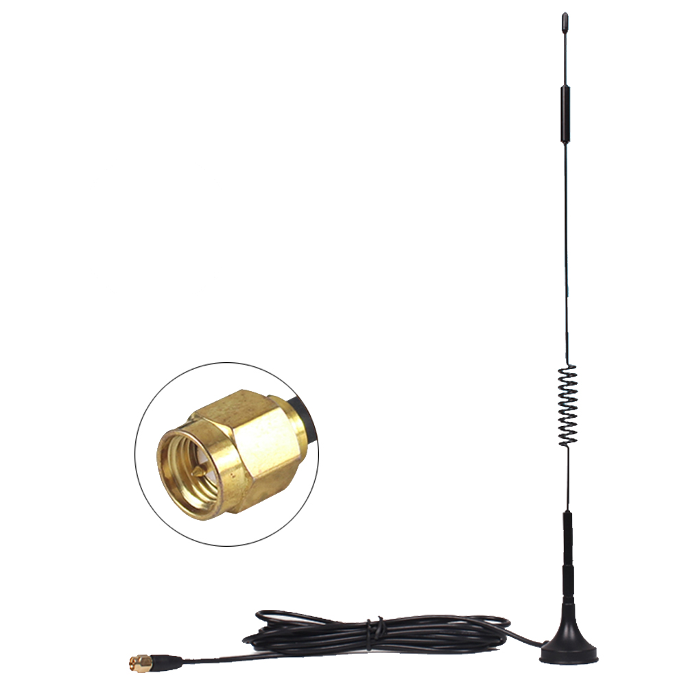 Dlenp 12dBi External Antenna With SMA Connector For 4G Router Modem Antenna GR174 3 Meter Cable
