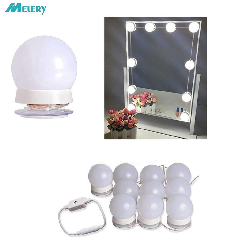 LED Light Bulbs Wall Mounted Hollywood Vanity Makeup ...
