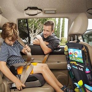 Image 5 - Universal Auto Sitz Zurück Organizer Multi Tasche Lagerung Tasche Tablet Halter Autos Interior Zubehör Verstauen Aufräumen