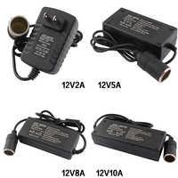 AC Adapter DC 110V 220V to 12V 2A 5A 8A 10A Power Adapter Car Cigarette lighter Converter inverter 220V 12V lighter With EU Plug