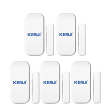 Free Shipping 5pcs new KERUI 433 MHz Wireless Door Sensors Door Opening Sensor window sensor gap detector for Home Alarm System