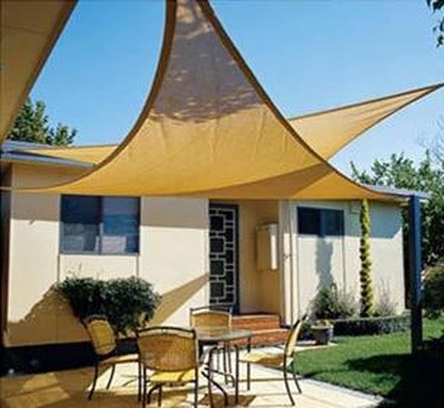 3.6x3.6x3.6 m HDPE Triangle ombre voile crypter épais extérieur soleil ombre Net Anti Uv auvent auvent balcon jardin cour