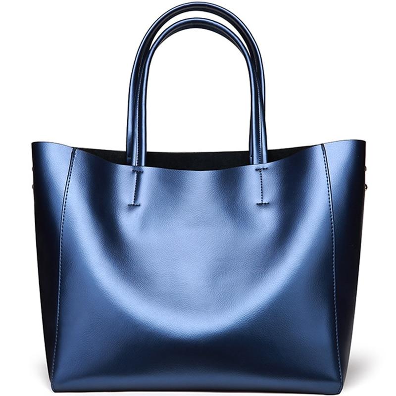 SUNNY SHOP 2018 Fashion 100% Genuine Leather Bag Women Top-Handle Bags Cowhide Large Capacity Shoulder Bag Female Stylish Work недорго, оригинальная цена