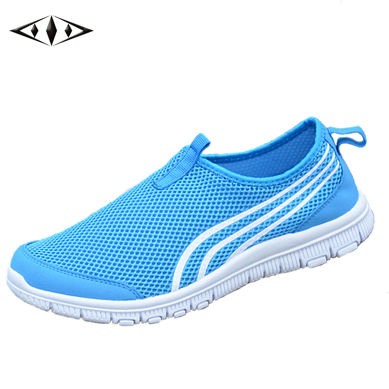 LEMAI Hot Sale Athletic Sneakers For Men Summer Breathable Air Mesh Outdoor Men Running Shoes Soft Rubber Sole Striped 002-3