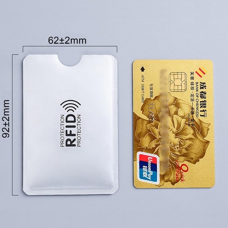 1pc New Aluminum Anti Rfid Reader Blocking Bank Credit Card Holder Protection New Rfid Card Reader Metal Credit Card Holder H039