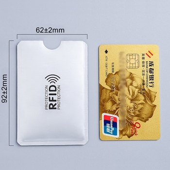 1pc New Aluminum Anti Rfid Reader Blocking Bank Credit Card Holder Protection Metal H039