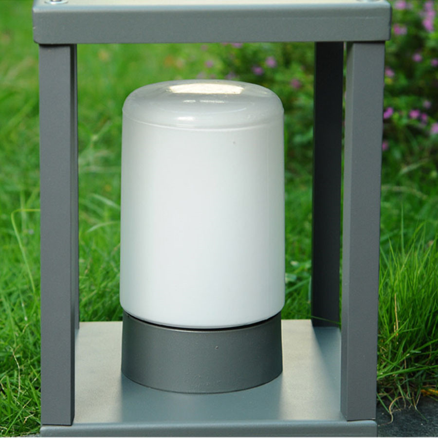 BEIAIDI современный IP65 наружный светодиодный столб лампа Вилла квадратный парк колонна светильник водонепроницаемый пейзаж забор ворота клеймо уличный светильник