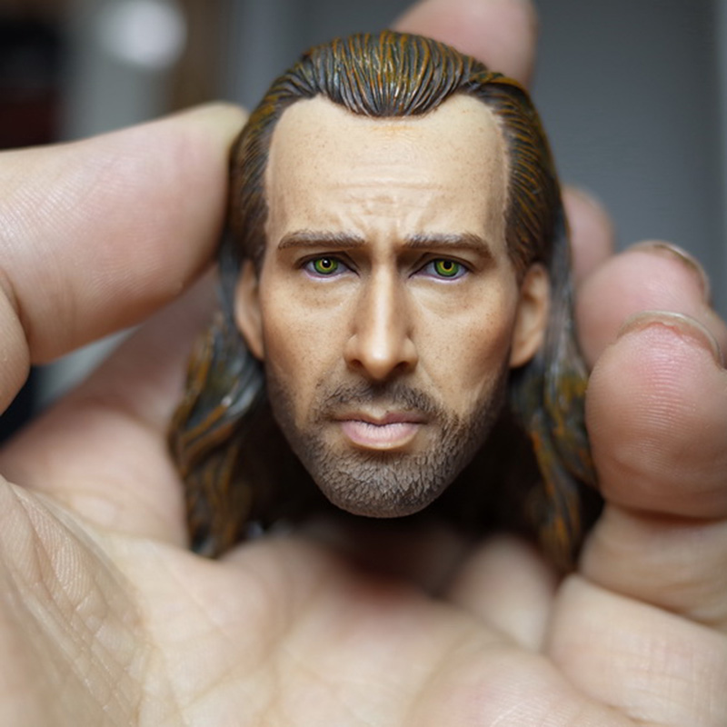 1/6 Nicolas Cage Con Air Head Sculpt For 12 inches Male Body Figure 1 6 scale the game of death bruce lee head sculpt and kungfu clothes for 12 inches figures bodies