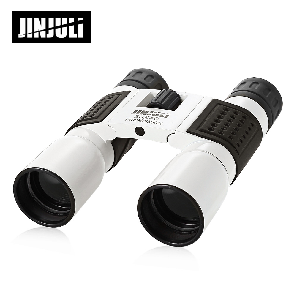 JINJULI 30X40 1500M / 9500M Folding Outdoor Binocular Fully-Coated Roof Prism Telescope Outdoor Hunting Binoculars Telescope eyeskey binocular telescope 8x32 hd fully multi coated optical for outdoor travel sightseeing hunting sport match concert orange