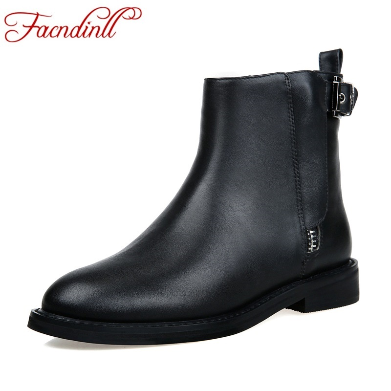 FACNDINLL soft leather women ankle boots for chelsea boots round toe zip casual shoes woman bootie botas femininas autumn boots new design brush effect soft leather back etoile round ring belt buckle ankle boots square toe side zip women boots shoes woman