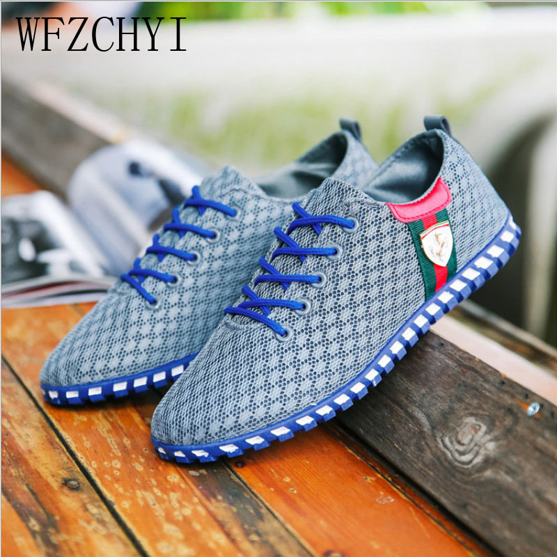 Summer New Men Casual Shoes Breathable Men's Outdoor Sneakers Fashion Large Size Canvas Flat Shoes Lightweight Driving Shoes