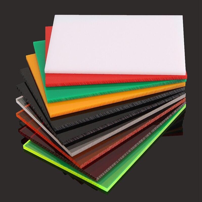 A4 Couleur Noir Rouge Acrylique Plaque En Plexiglas BRICOLAGE Jouet ...