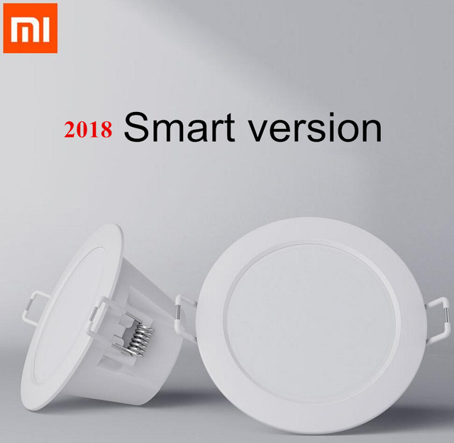 US $11 88 5% OFF|2018 Xiaomi Mijia Smart Downlight Wifi Work with Mi home  App Smart Remote control White & Warm LED adjustable intelligent Light-in