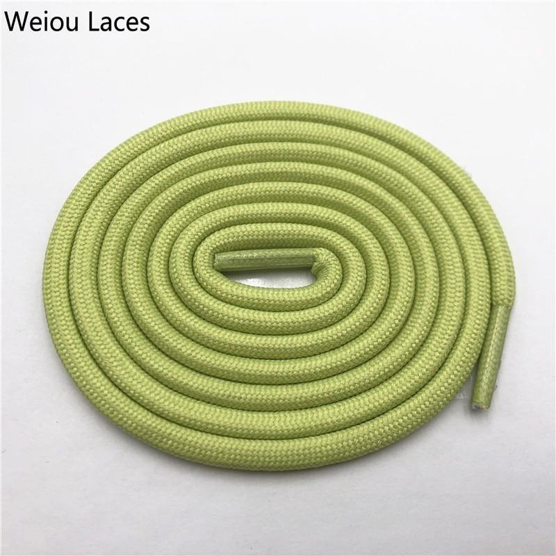 Weiou 0,5 см круглые спортивные шнурки из полиэстера толстые походные шнурки одежда веревка для скалолазания шнурки для ботинок Детские мужские - Цвет: 2718Grass green