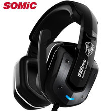 Headphone Gaming Headset 7.1 Sound Usb Wired Vibration Earphones With Microphone Pc Laptop Original Brand Somic G909 PRO(China)