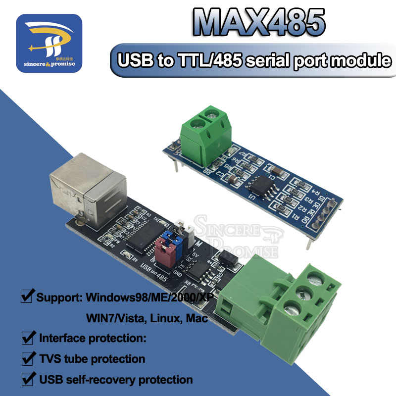 USB 2.0 に TTL RS485 シリアル変換アダプタ FTDI モジュール FT232RL ダブル機能保護 TTL ターン RS-485 MAX485 モジュール