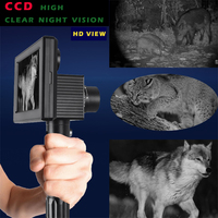 High definition infrared night vision system dual perspective non thermal imager digital screen hand held real night vision