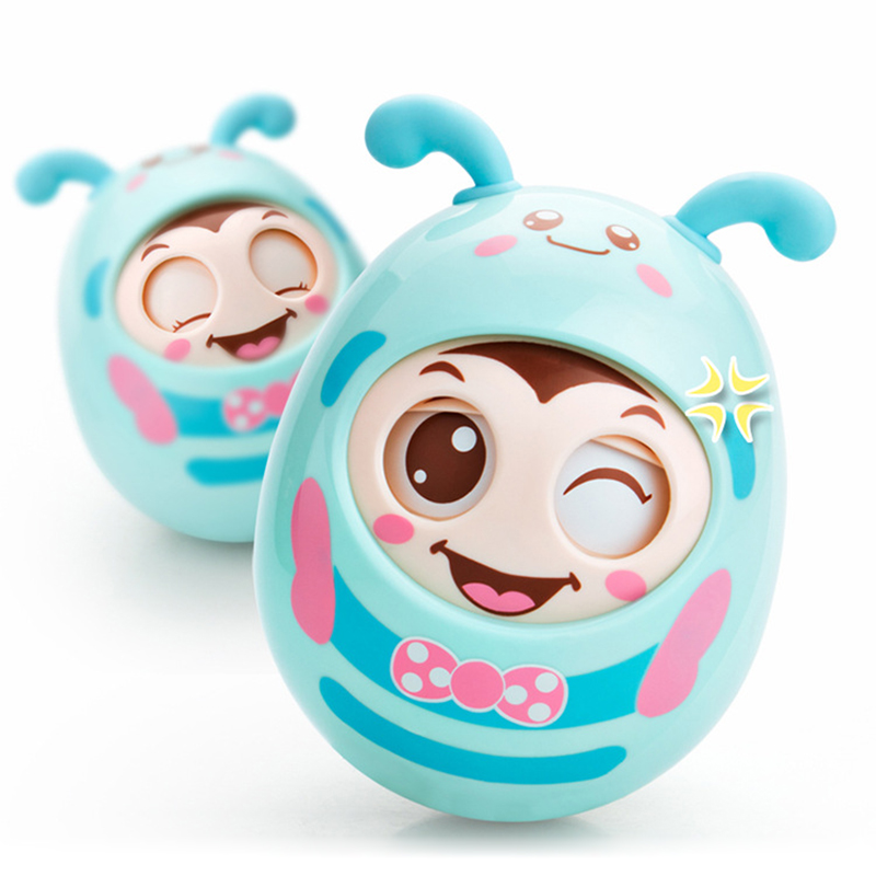 Baby Rattles Teethers Trumbler Doll  plastic Infant Educationa Toys for Newborns 0-12 Months Babies Boys Girls 3897