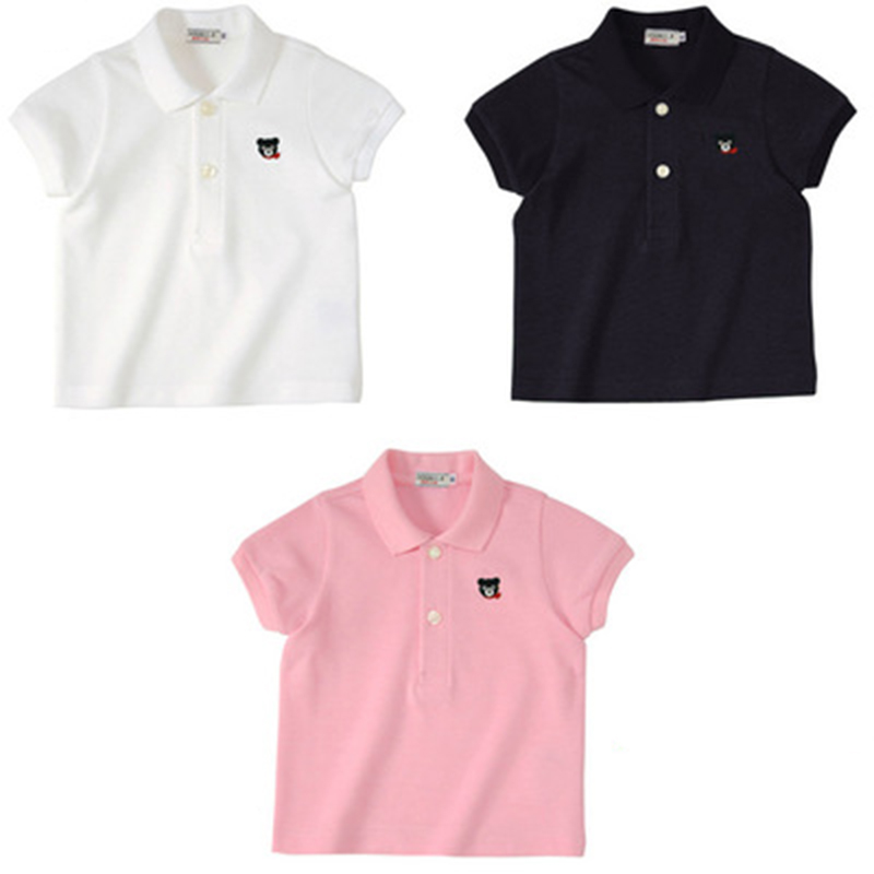 For Adults Miki Pure Color Family Matching Polo Shirts 2018 High Quality Pure Cotton Parent Kid Outfits Men and Women Polo Tees