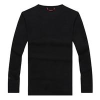 10XL 8XL 6XL 5XL 4X Cotton Solid Color T Shirt New 2017 Autumn And Winter Man