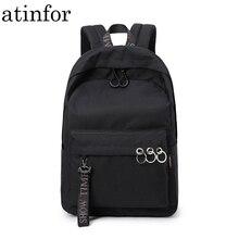 مقاوم للماء المرأة على ظهره الأسود والوردي السفر Bookbag سيدة الظهر حقيبة المفاتيح حقيبة كلية حقيبة مدرسية للفتيات