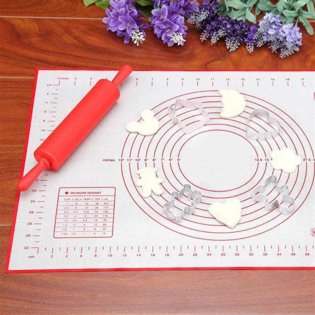 Ex-di grandi dimensioni In Silicone Non-bastone di Cottura Pasticceria Zerbino Forno Bilancia di Rotolamento Pasta Maker Cottura Rotolamento Del Fondente Zerbino Attrezzature e Accessori da forno strumenti di cottura