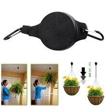 Retractable Pulley Hanging Basket Pull Down Hanger to 20cm-90cm Garden Baskets Pot hanger load max weight 15kg