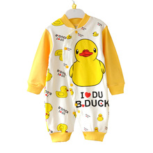 Baby Boy Rompers For Newborns Long Sleeve Costume Cotton Duck Cartoon Animal Clothing Brand Overalls Toddlers Macacao Menino