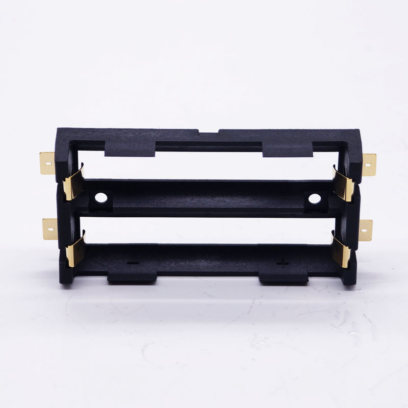100Pcs lot 2 X 18650 Battery Holder SMD SMT High Quality Battery Box With Bronze Pins