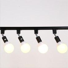 10pcs Modern Led E27 Lamp Holder Track Lights With 9W Bulb Ac110 240v Beam