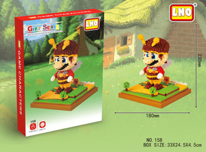 Image 2 - LNO Mini blocks mini super mario yoshi action figures plastic building cartoon diy model bricks funny educational toys for kids