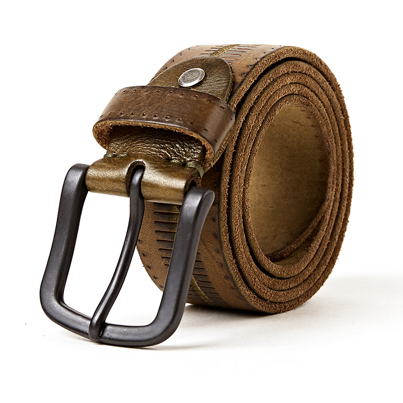 new leather belt men genuine leather belts for men brown color jeans buckle strap good quality cow skin mens belts