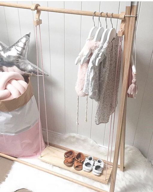 Kids Wooden Coat Rack