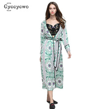 2019 New Summer Floral Print Silk Trench X-Long Loose Shawl Kimono Cardigan Coats Cover Up with Sashes Thin Windbreaker we0076