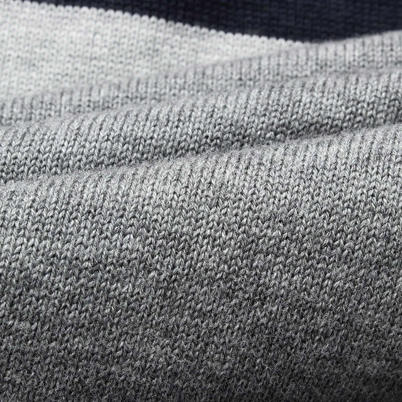 2020 ฤดูใบไม้ร่วงฤดูใบไม้ร่วงผู้ชายเสื้อกันหนาว O-Neck Striped SLIM FIT Knittwear Mens เสื้อกันหนาว Pullovers เสื้อกันหนาวดึง Homme M-3XL