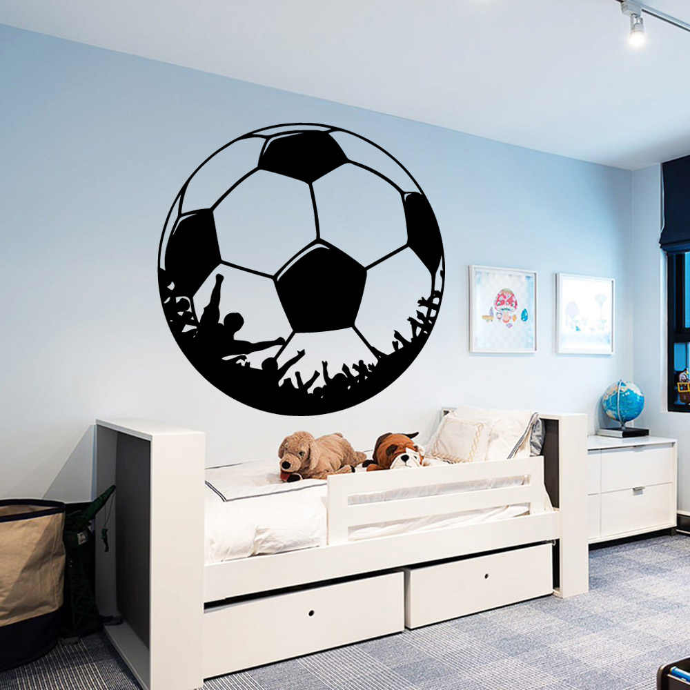 Custom Soccer Wall Stickers Personalized Creative For Kids Rooms Football Diy Home Decoration Murals Decor