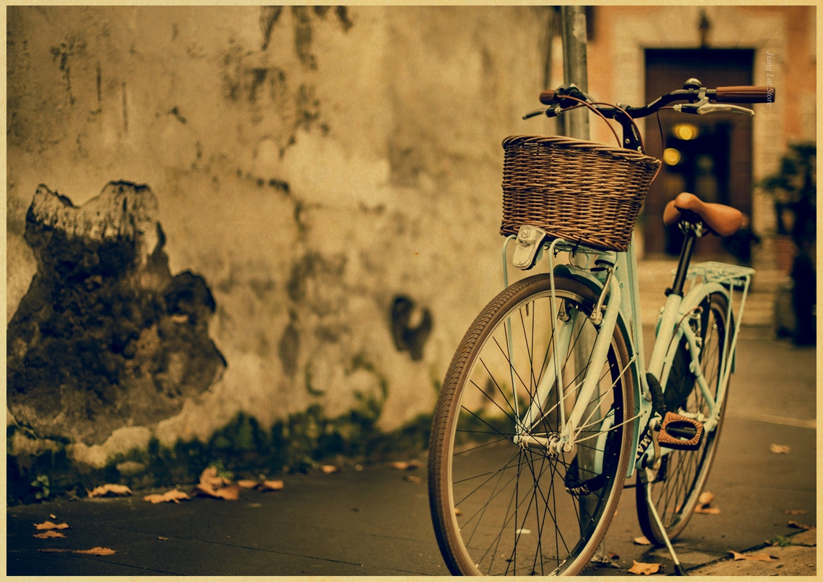 Nice Vintage Bicycle Wall Decor Picture Collection - The Wall Art ...
