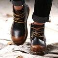Los amantes Del Otoño Hombres Botas Botas de Los Hombres Zapatos de Cuero Partido de la Vaca Vaquero Botines Para Hombre Pisos Zapatos Hombre