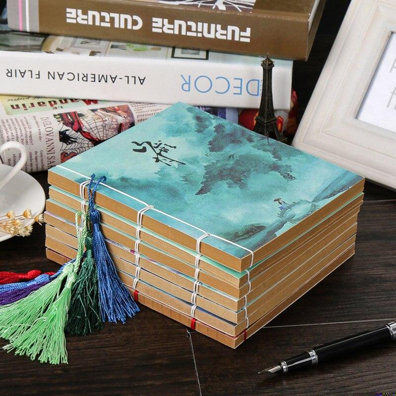Mais recente Notebook Escritório Artigos de Papelaria Material Escolar Diário de Viagem Criativo Bonito Chinês Vento Handmade Board Brochura Retro Notebook