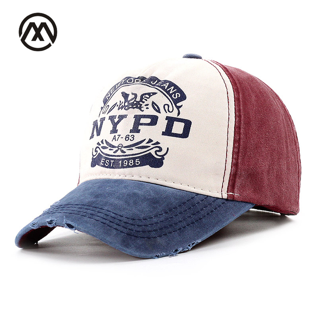 2018 NYPD Baseball Hat EST 1985 Washed Cotton Adjustable Hip-hop Hats Woman  Man letter Baseball Cap Retro Gorro Dad Snapback Cap 1a074c6815f5