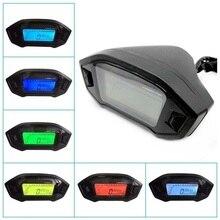 สากลT AchometerรถATVรถจักรยานยนต์จอแอลซีดีดิจิตอลS PeedometerวัดระยะทางKMHวัดแสงไฟรถจักรยานยนต์วัดระยะทางสำหรับ1,2, 4ถัง