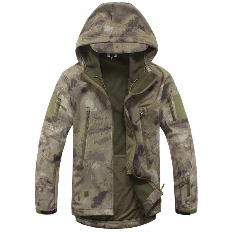 bomber jacket men Lurker Shark Skin Soft Shell TAD Military Tactical Jacket Waterproof Windproof Hunt Camouflage Army Clothing