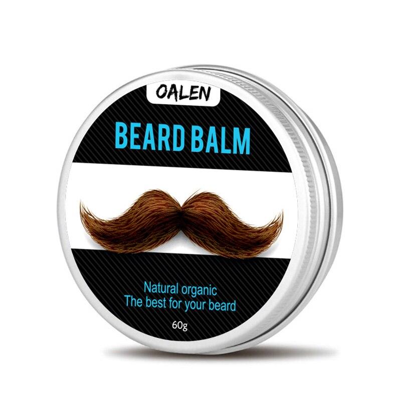 Men Organic Beard Oil Balm Moustache Wax Styling Beeswax Moisturizing Smoothing Gentlemen Beard Care 60g Natural Men Beard Balm 2
