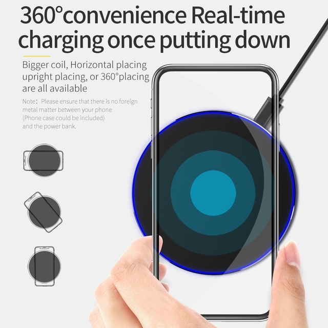 DCAE Qi Wireless Charger For iPhone 8 X XR XS Max QC3.0 10W Fast Wireless Charging for Samsung S9 S8 Note 9 S10 USB Charger Pad 4