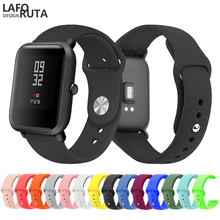 Laforuta 20mm Sport Soft Silicone Watch Band for Xiaomi Amazfit Bip St