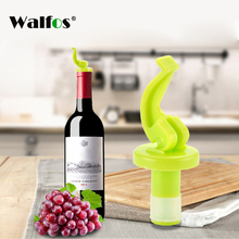 WALFOS Novelty Silicone Wine Bottle Stoppers Beer Wine Cork Plug Bottle Cover Kitchen Bar Tool