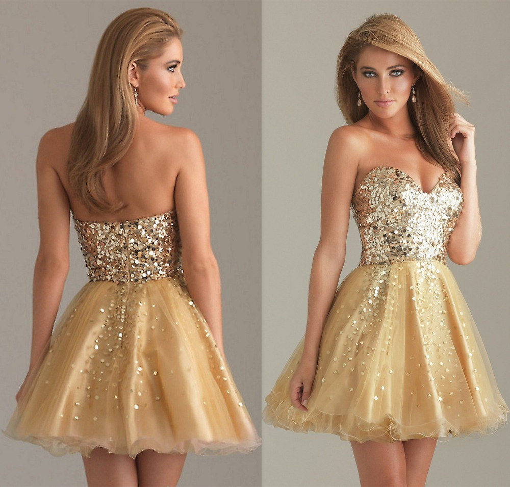 Online Get Cheap Short Gold Homecoming Dresses -Aliexpress.com ...